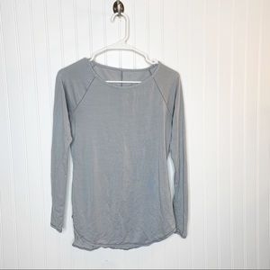 Athleta Striped Long Sleeve Active Top Size XS
